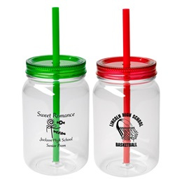 Mason Jar With Straw - 25 oz.