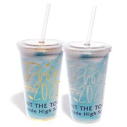 Prom Blue Watercolor Luxe Tumbler