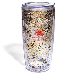 Gold and Black Glitter Tumbler
