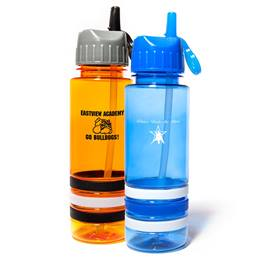 Wristband Water Bottle-Flip Up Lid