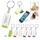 Key Chain With Phone Stand and Screen Cleaner