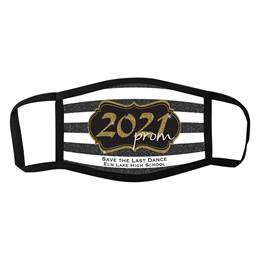 3-Layer Full-color Face Mask - Gold 2021 Prom Crest