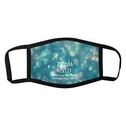 3-Layer Full-color Face Mask - Teal Bubbles