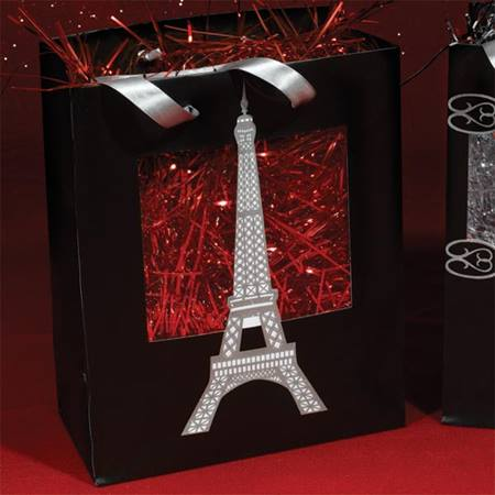 Eiffel Tower Window Favor Bag