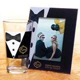 Full-color Tumbler and Frame Favor Set - Tuxedo Elegance