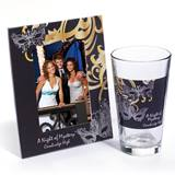 Tumbler and Frame Favor Set - Masks and Swirls