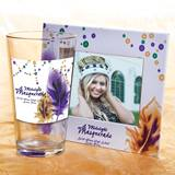 Full-color Tumbler and Frame Favor Set - Feathers and Beads