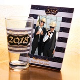 Tumbler and Frame Favor Set - Gold 2018 Prom Crest