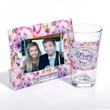 Tumbler and Frame Favor Set - Watercolor Flowers
