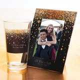Tumbler and Frame Favor Set - Gold Rain