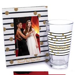 Tumbler and Frame Favor Set - Dotted Lines