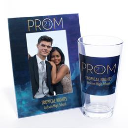 Tumbler and Frame Favor Set - Gold Prom Watercolors