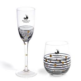 Dotted Lines Flute and Tumbler Set