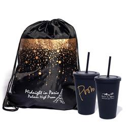Favor Set - Bubble Rain Backpack and PROM Tumbler