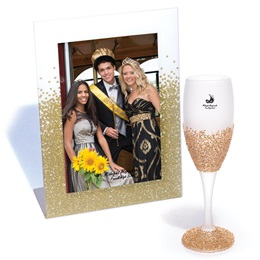 Glazed in Gold Flute and Gold Glitter Magic Frame Set