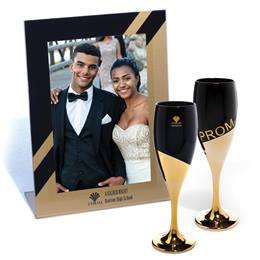 Prom Rising Flute and Gold Rising Frame Set