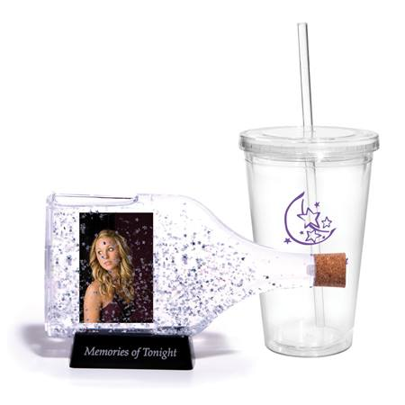 Star Confetti Bottle Tumbler Set