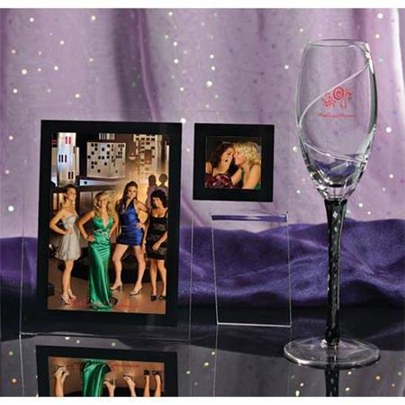 Double Date Frame & Black Braid Flute Set