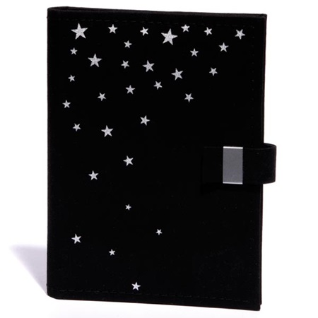 Black Fabric Album with Silver Stars