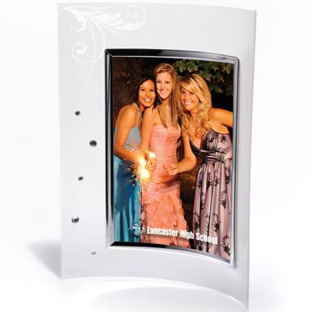 Lounging Leaf Frosted Acrylic Frame