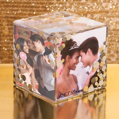 Glitter Pearls Cube Frame