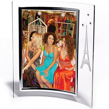 Etched Eiffel Tower/Stones Frame