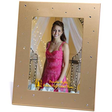 Gold Metal Frame w/Stones