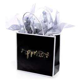 Black, White, and Gold Prom 2020 Favor Bag