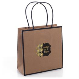 Kraft Gift Bag with Customized Sticker
