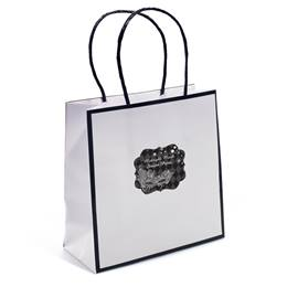 White Gift Bag with Customized Sticker