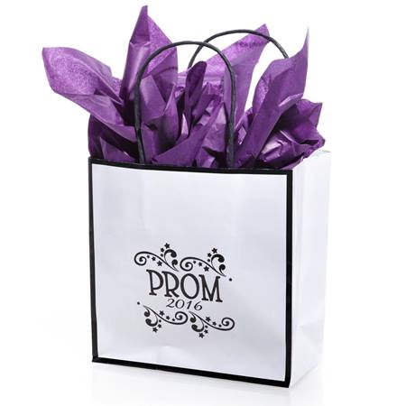 Black and White Prom 2017 Favor Bag