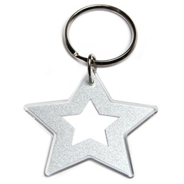 Glitter Star Key Chain