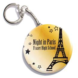 Golden Tower Round Key Chain