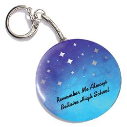Nighttime Gradient Round Key Chain