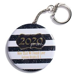 Gold 2020 Prom Crest Round Key Chain