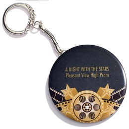 Hollywood Gold Round Key Chain