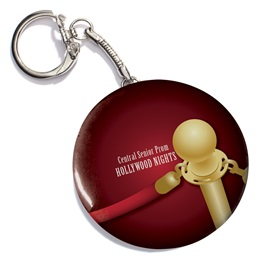 Red Carpet Rope Round Key Chain