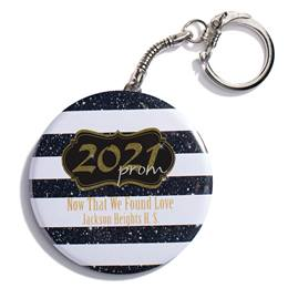 Gold 2021 Prom Crest Round Key Chain