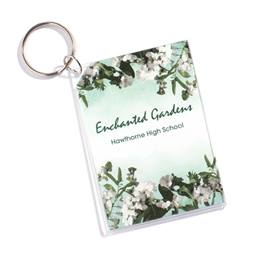 Garden Paradise Photo Key Chain