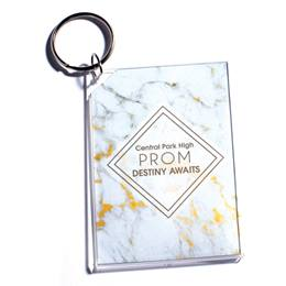 Prom Marble Photo Key Chain