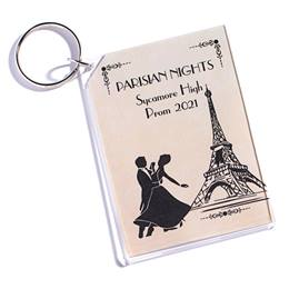 Vintage Paris Photo Key Chain