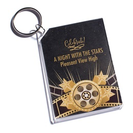 Hollywood Gold Photo Key Chain