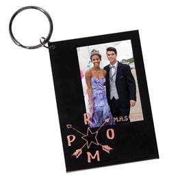 Gold PROM Arrows Photo Key Chain
