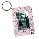 Confetti-scape Photo Key Chain