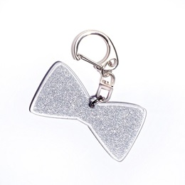 Glitter Bow Tie Key Chain