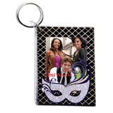 Glitter Mask Photo Key Chain