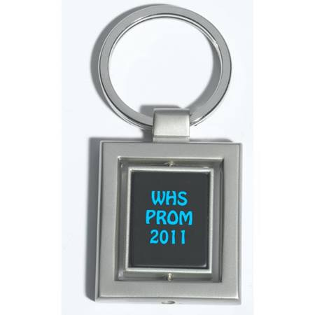 Square Center Spinner Key Tag