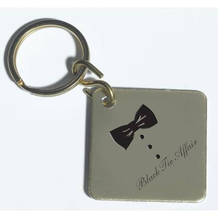 Key Tag – Gold Square