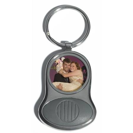 2 1/2 in. Silver Photo Key Tag/Light