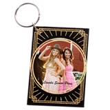 Art Deco Glitter Photo Key Chain